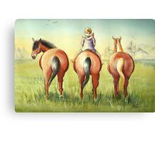 Pony Tails Canvas Print