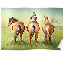 Pony Tails Poster