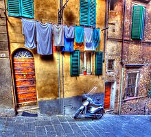 Wash Day In Siena by clint hudson