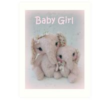 Eve and Elisha Elephants - Handmade bears from Teddy bear Orphans Art Print