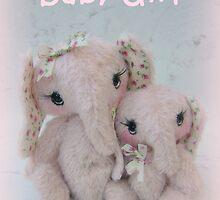 Eve and Elisha Elephants - Handmade bears from Teddy bear Orphans by Penny Bonser