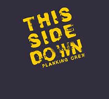 Planking: This Side Down Planking Crew Unisex T-Shirt