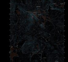 USGS Topo Map Oregon Broken Top 20110811 TM Inverted by wetdryvac