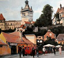Sighisoara- Old town by vion