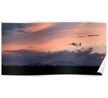 Sunset over the Kamnik Alps Poster