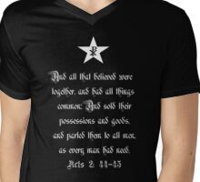 From each according to his ability, to each according to his need Mens V-Neck T-Shirt