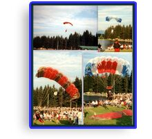 HUMAN-KITES IN AUSTRIA Canvas Print