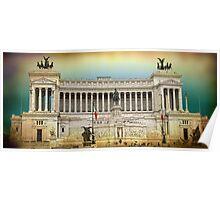Monument to Vittorio Emanuele II . ROME Poster