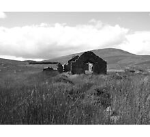 Abandoned Cottage in rural Ireland Photographic Print