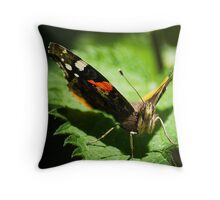 Red Admiral Face on Throw Pillow