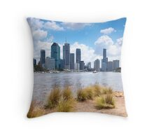 Brisbane City view from Kangaroo Point Throw Pillow