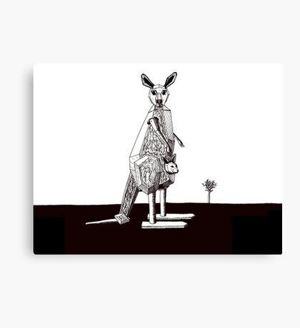 Kangarobot Canvas Print
