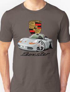 Porsche Boxter 1st generation caricature silver T-Shirt