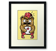 Fashion Bear Framed Print