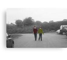 two friends walk the walk Canvas Print