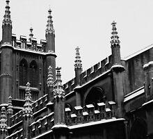 Snowy Church in Bath, England by MichelleRees