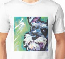 Schnauzer Bright colorful pop dog art Unisex T-Shirt