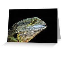 """"""" Water Dragon Lizard  Marlo Vic. """" Greeting Card"""