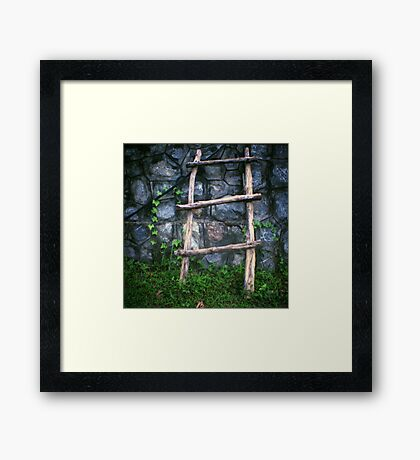 shortcut, kep, cambodia Framed Print