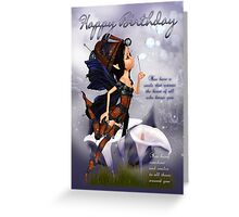 Fairy Birthday Card - Blues Fairy Blues Greeting Card