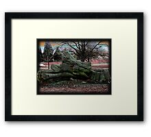 Far out and Woodstock Framed Print