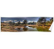 Turon Reflections - Hill End, NSW Australia (25 Exposure HDR Panorama )- The HDR Experience Poster