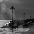Tide Markers in Black & White by RKLazenby
