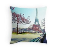 admiring Paris Throw Pillow
