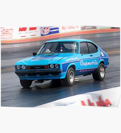 Ford Capri drag racer Poster