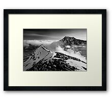 Ben Nevis and the Carn Mor Dearg arête, Scotland. Framed Print
