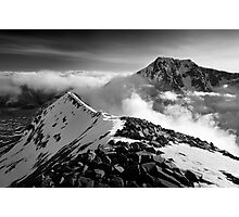 Ben Nevis and the Carn Mor Dearg arête, Scotland. Photographic Print