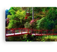 Portmeirion - Japanese garden, Wales Canvas Print
