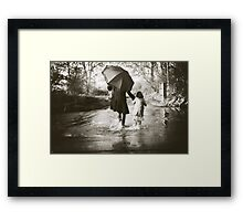 splashing Framed Print
