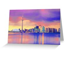 Colorful Cityscape Greeting Card