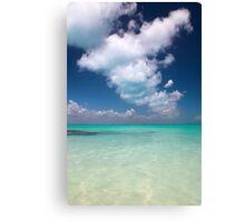 caribbean sea and sky Canvas Print
