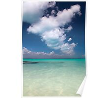 caribbean sea and sky Poster