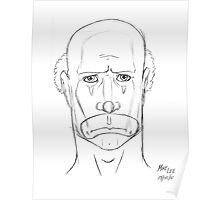Sad Clown - Speed Drawing Poster