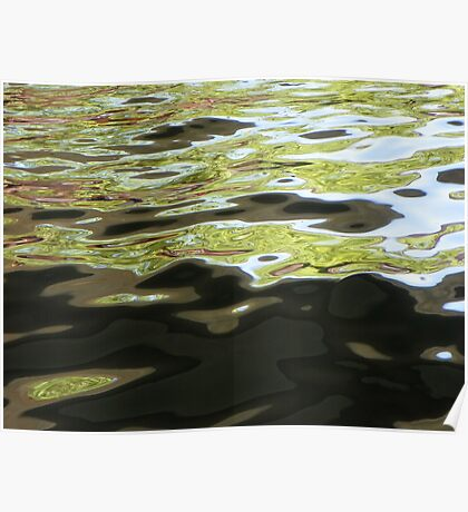 River Abstract Poster