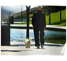 Woman Walking the Dog Poster