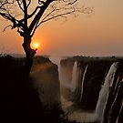 Victoria Falls Sunset by Leon Heyns