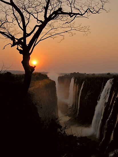 Victoria Falls Sunset by Leon Heyns