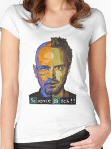 Breaking Bad Science Bitch!!! Women's Fitted Scoop T-Shirt
