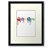 Fandom Symbols color Framed Print