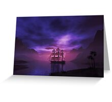 Clipper Ship at Sunset Greeting Card