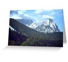 View from Garmisch-Partenkirchen Greeting Card