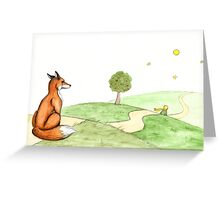 The Little Prince & The Fox Greeting Card