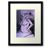 Distant Woman Framed Print