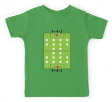 4 - 4 - 2 Football soccer formation Kids Tee