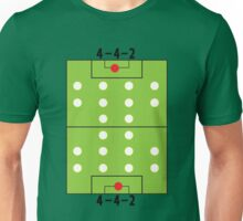 4 - 4 - 2 Football soccer formation Unisex T-Shirt