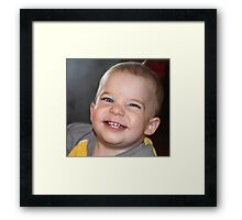Cheese Face Framed Print